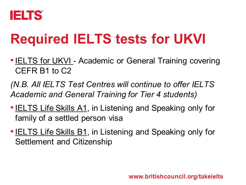 The test that's trusted around the world IELTS Information