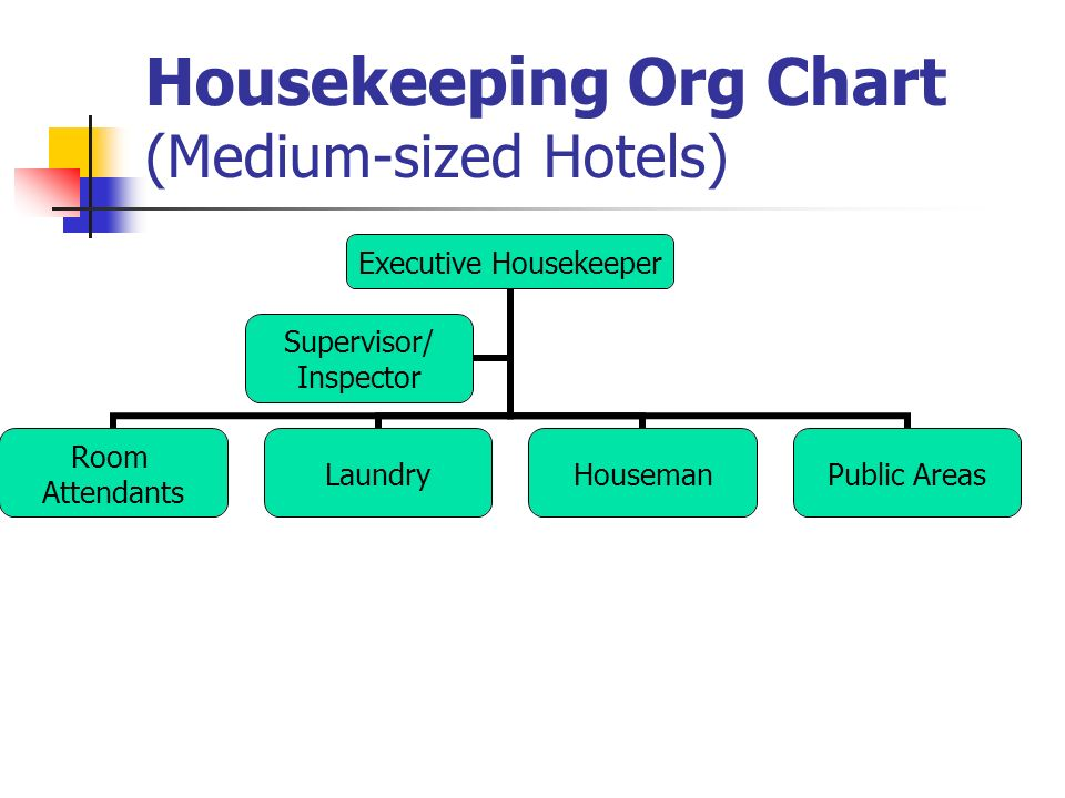 After you learn it you are able to tell the organization structure 3 housekeeping org chart medium sized hotels executive housekeeper room attendants laundryhousemanpublic areas supervisor inspector altavistaventures Image collections