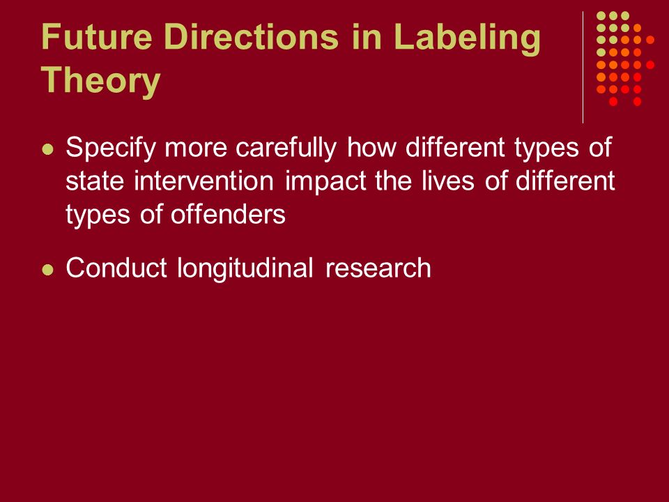 Juvenile sex offenders and labeling theory