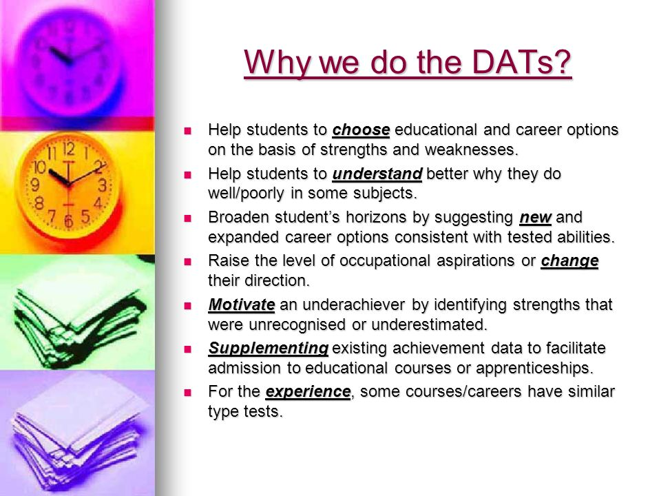 Differential Aptitude Tests Results Feedback Why We Do The