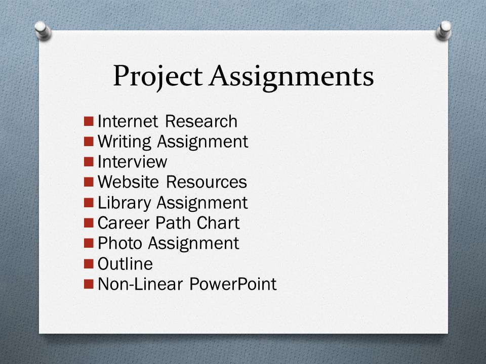 2 Project Ignments Internet Research Writing Ignment Interview Website Resources Library Career Path Chart Photo Outline