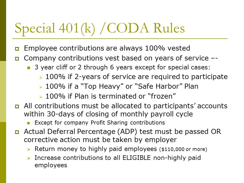 Defined Contribution Plans Profit Sharing 401(k) ESOP