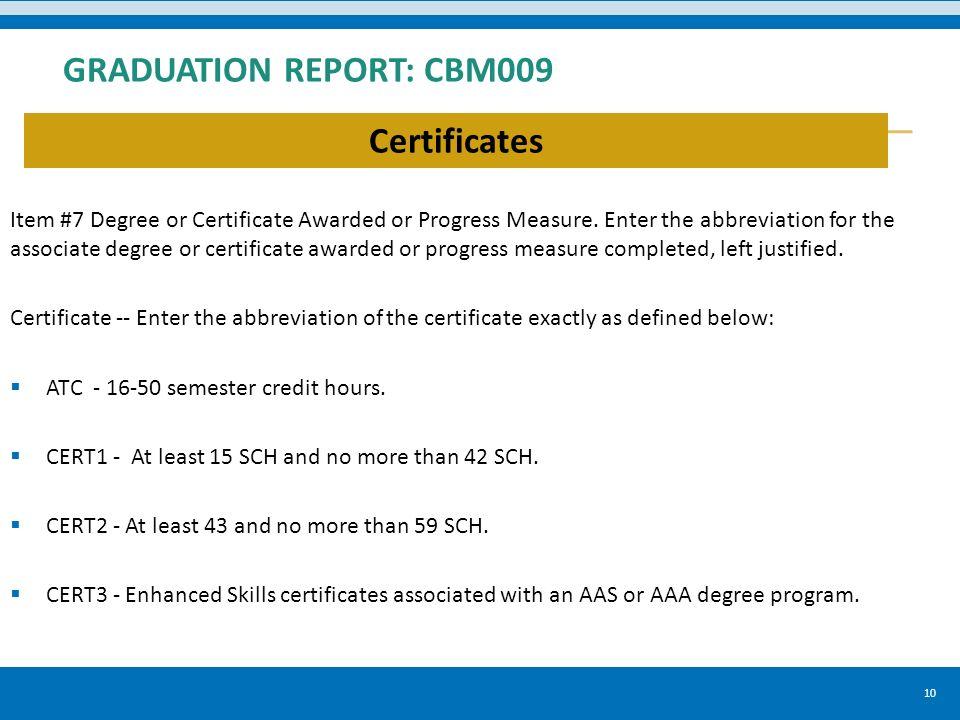 Community And Technical Colleges Graduation Report Cbm009 Anissa