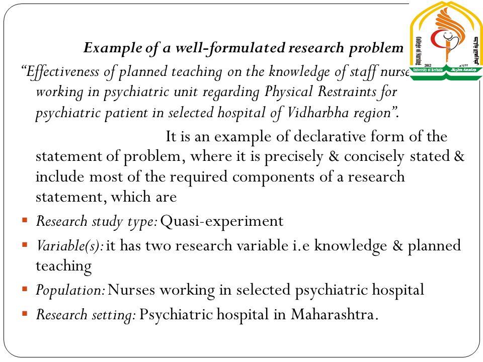 Dr Ali Kareem Al Juboori Research Problem A Research Problem Is A