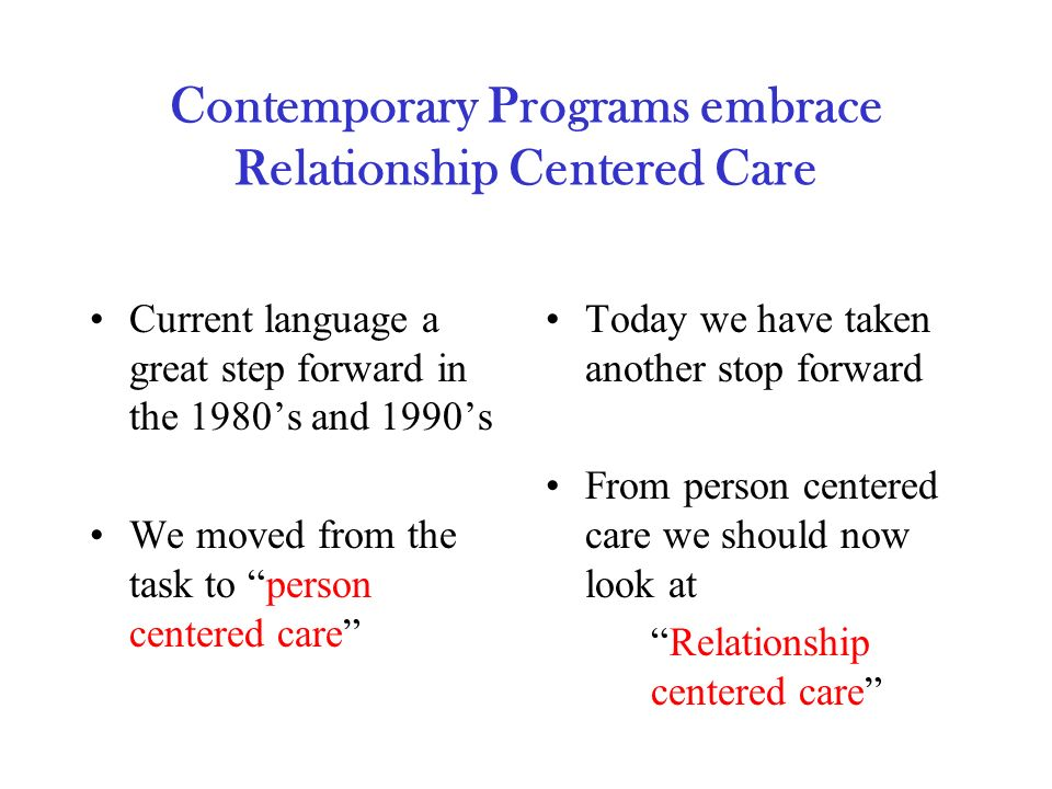 what is relationship centered care