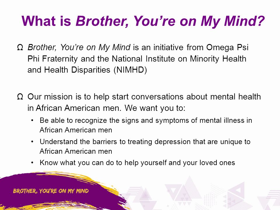 A Community Discussion On African American Men And Mental Health