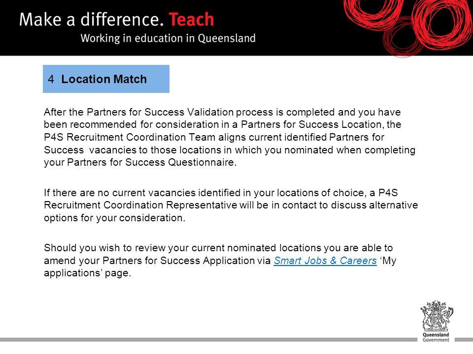 Partners for Success Recruitment process  Partners for Success