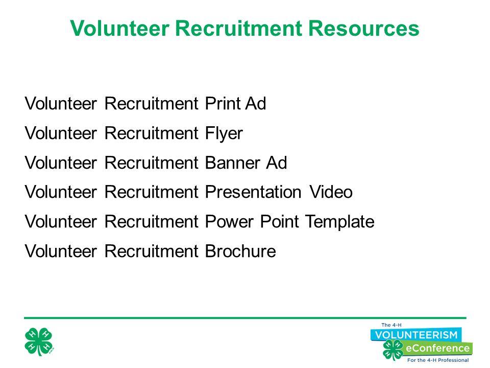 23 Volunteer Recruitment Print Ad Flyer Banner Presentation Video