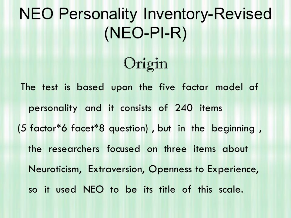 Neo personality inventory 3 cost