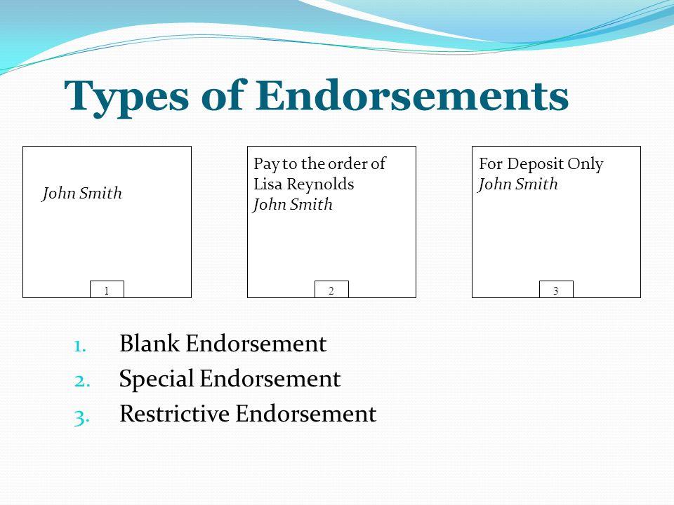 three types of endorsements