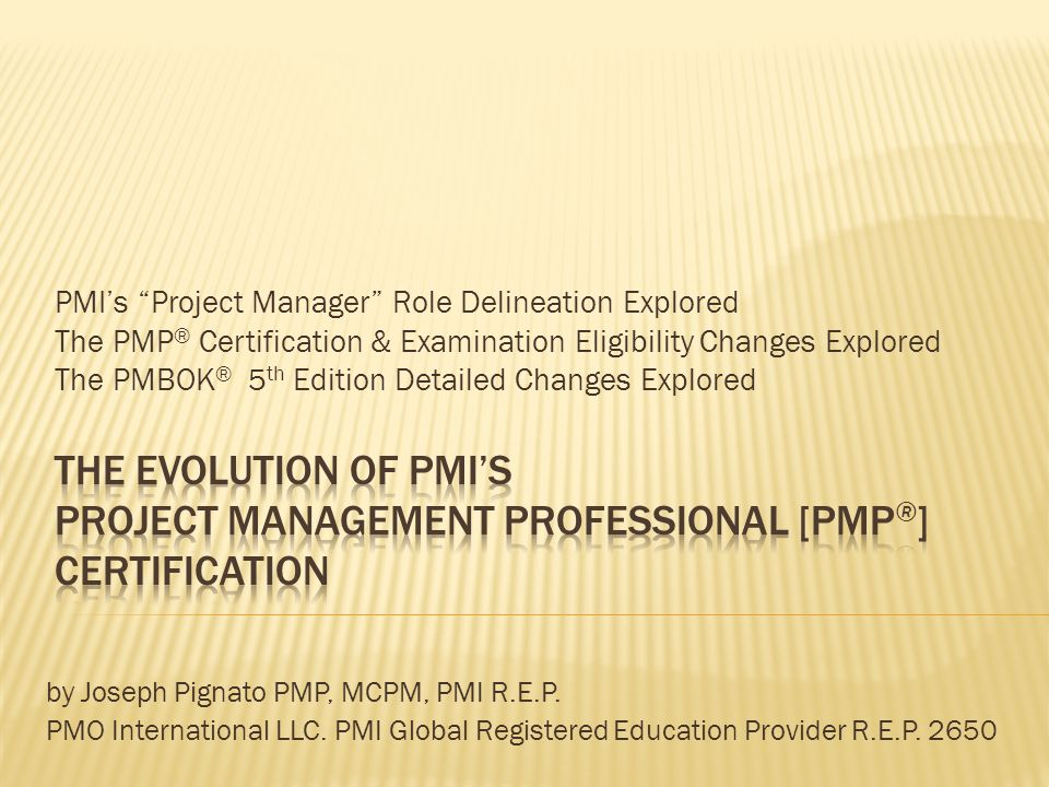 Pmis Project Manager Role Delineation Explored The Pmp