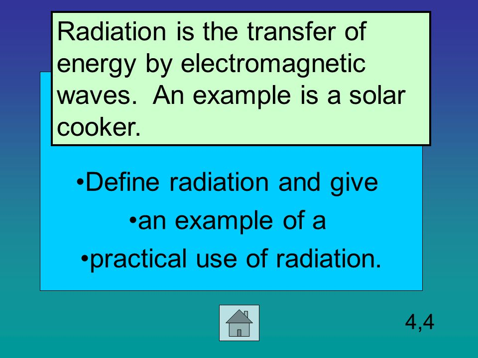 Which Is An Example Of Radiation Choice Image Example Cover Letter