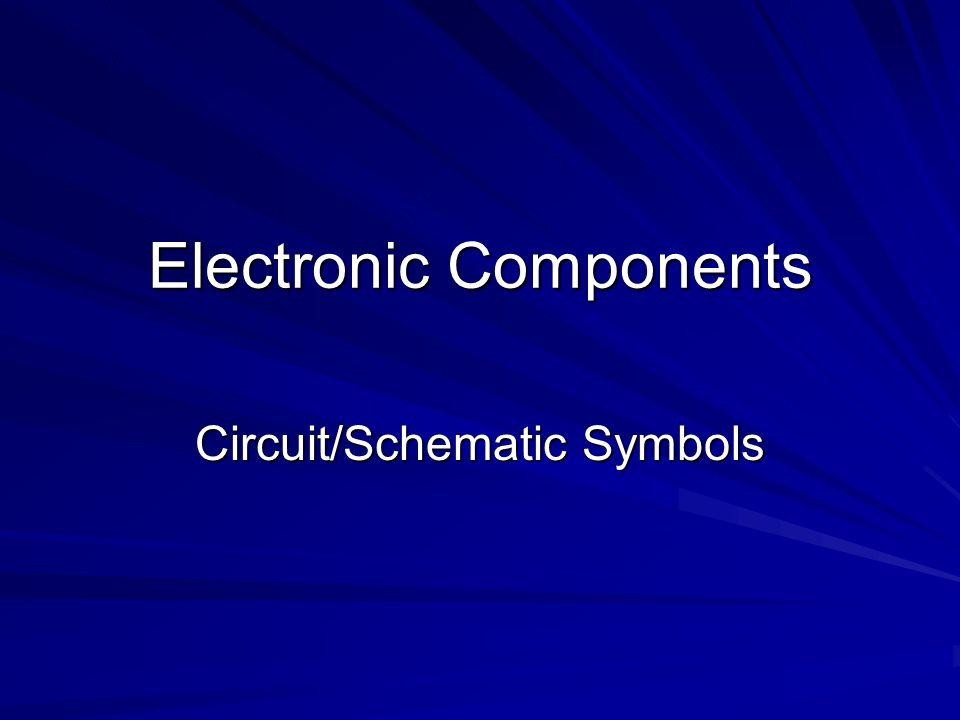 Electronic Components Circuitschematic Symbols Resistor Resistors