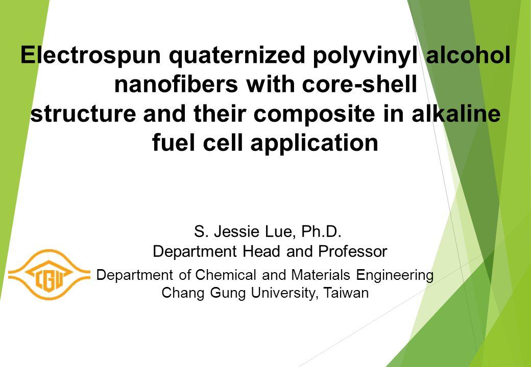 1  Electrospun quaternized polyvinyl alcohol nanofibers with