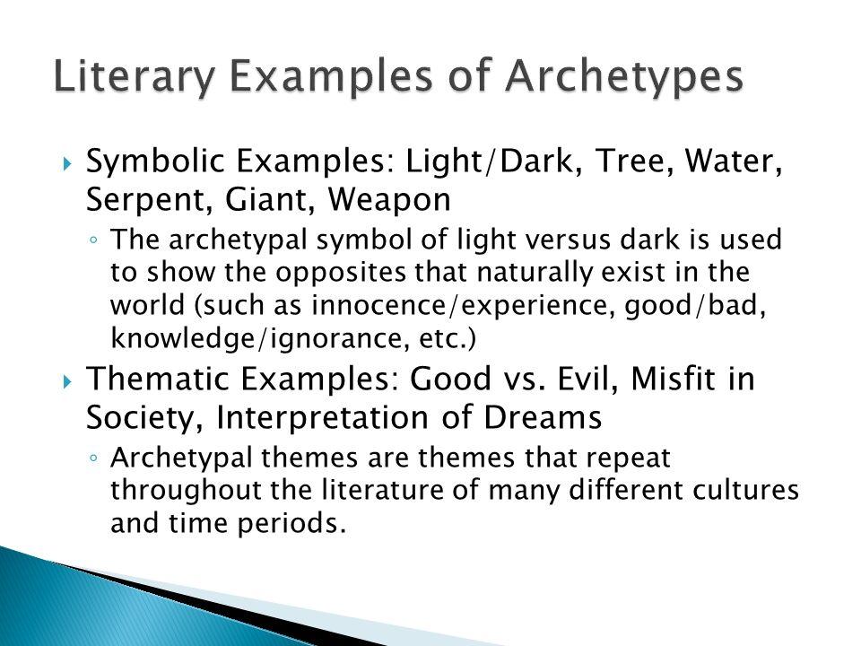 examples of good vs evil in literature