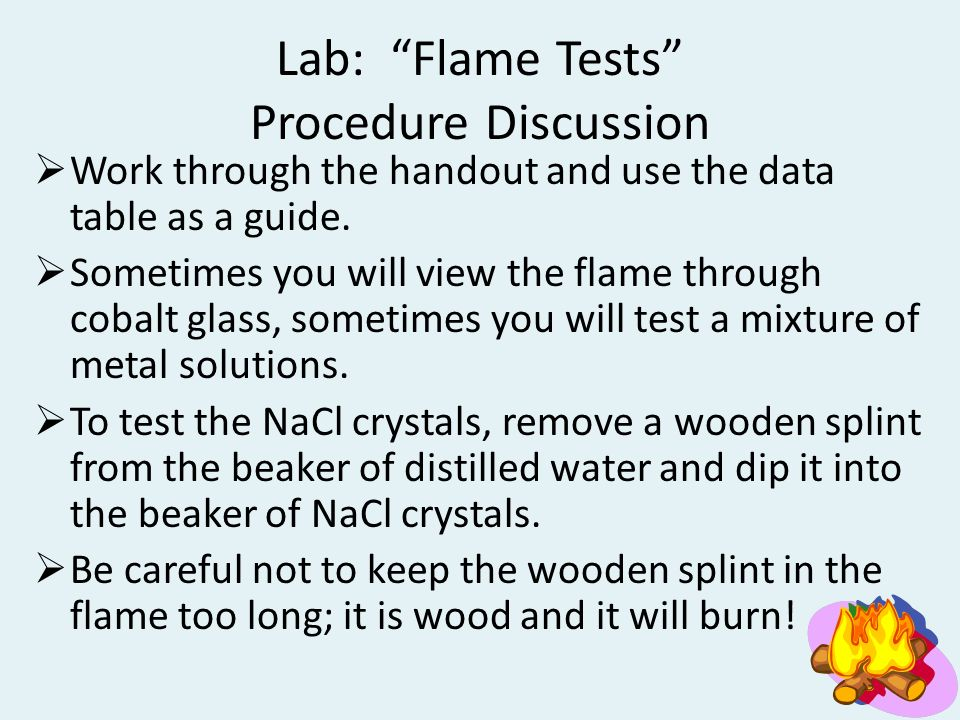 flame test discussion