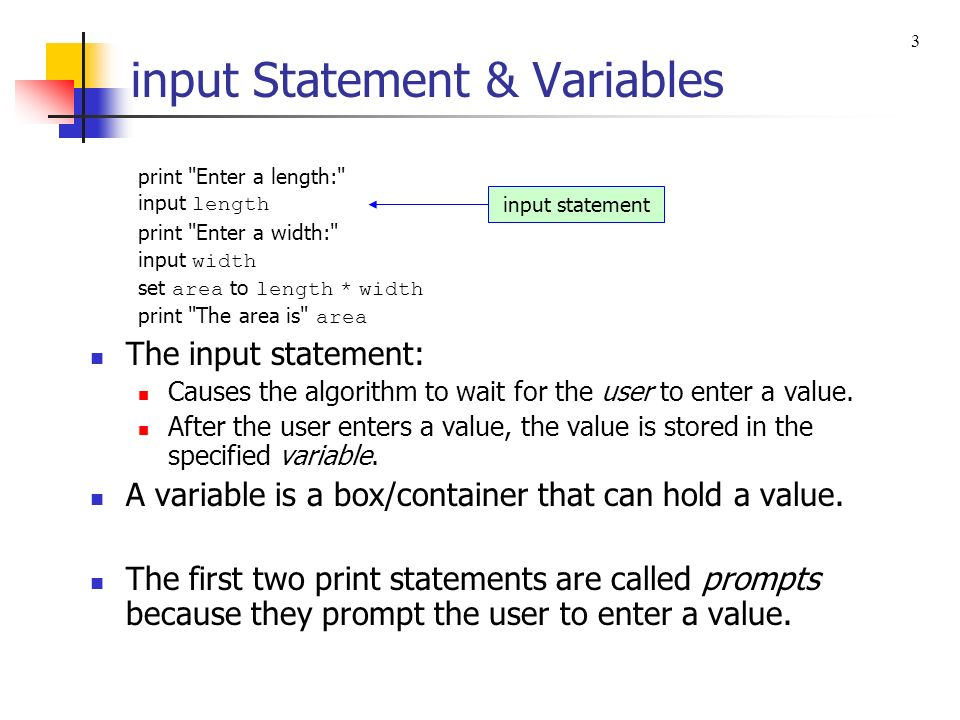 Chapter 2 Algorithms And Design Print Statement Input Statement