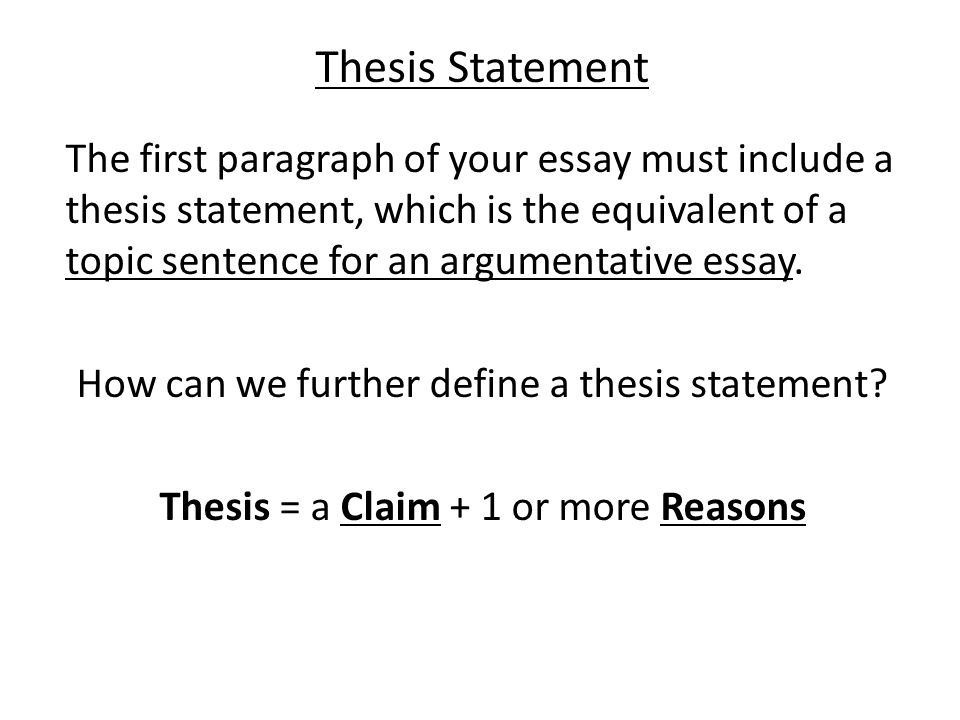 the tem exam making a claim in your essay thesis statement the   thesis statement