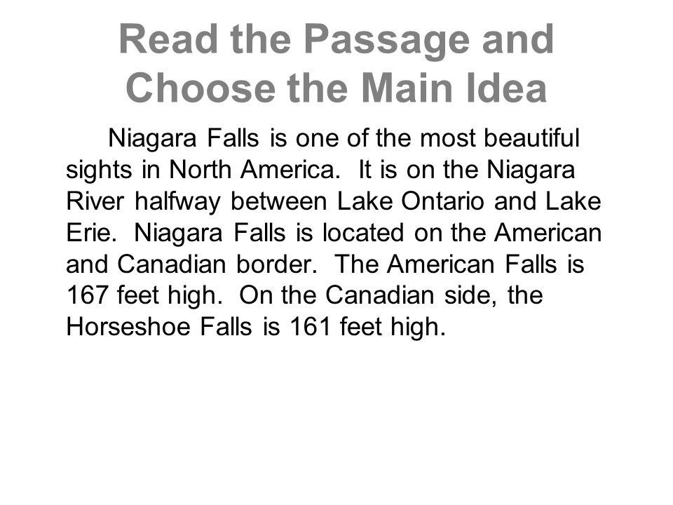 paragraph about niagara falls