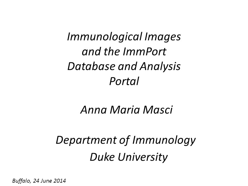 Immunological Images and the ImmPort Database and Analysis