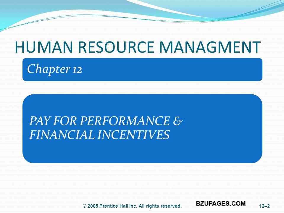 BZUPAGES COM HUMAN RESOURCE MANAGEMENT Zubair Aslam (MIT 09