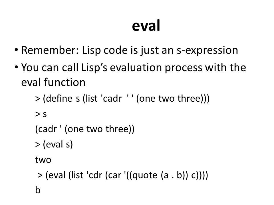 Functional Programming in Scheme and Lisp  - ppt download