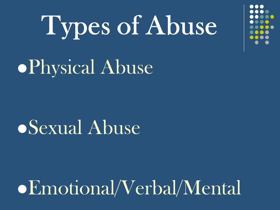 types of abuse in dating relationships