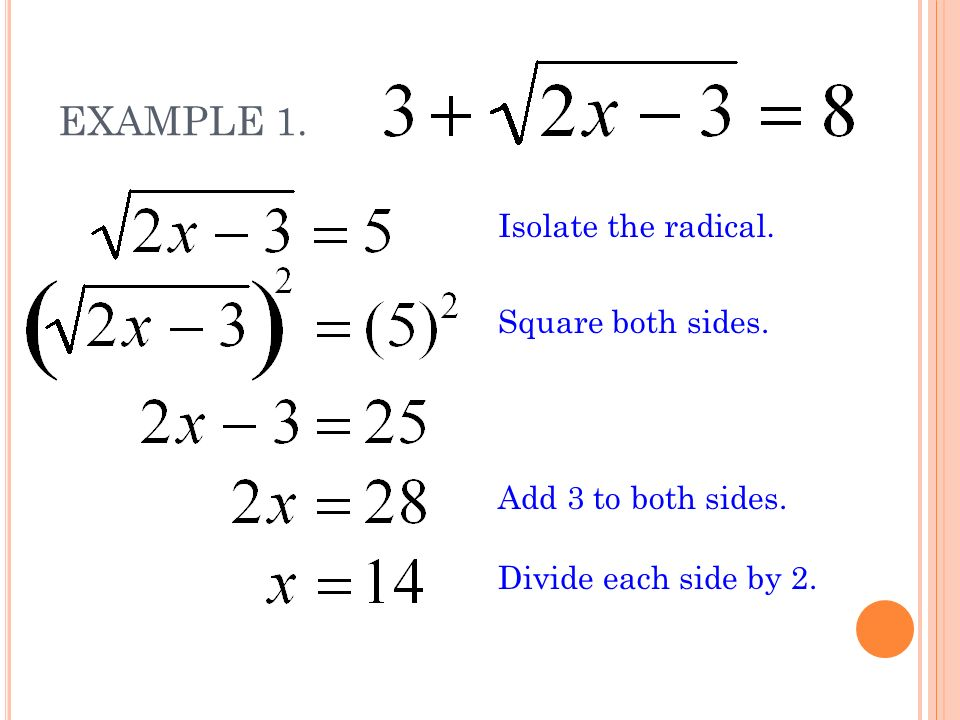 65 Solving Square Root Equations Real World Example Ppt Download