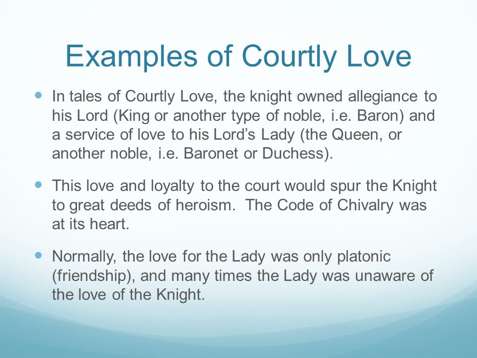 What is the code of courtly love