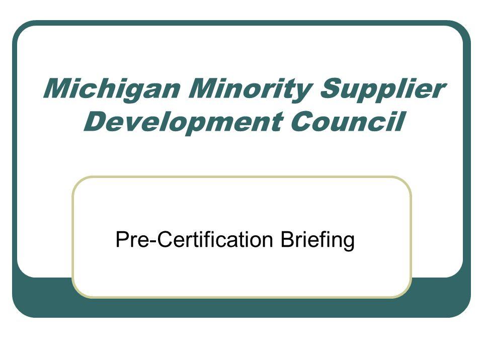 Michigan Minority Supplier Development Council Pre-Certification ...
