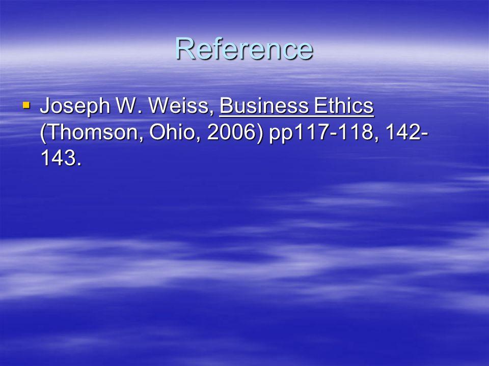 business ethics weiss joseph w