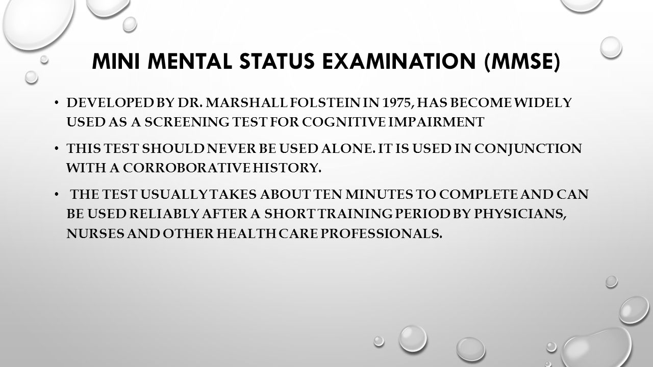 photograph about Mini Mental Status Exam Printable titled Two times Progressive Those Mmse Take a look at