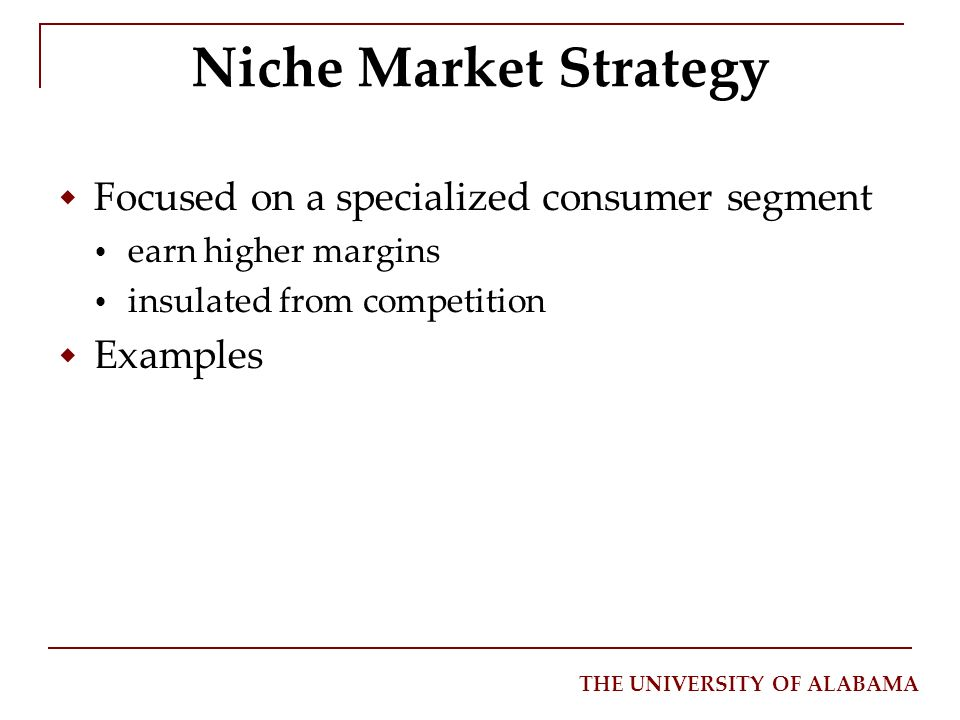 niche marketing definition by philip kotler