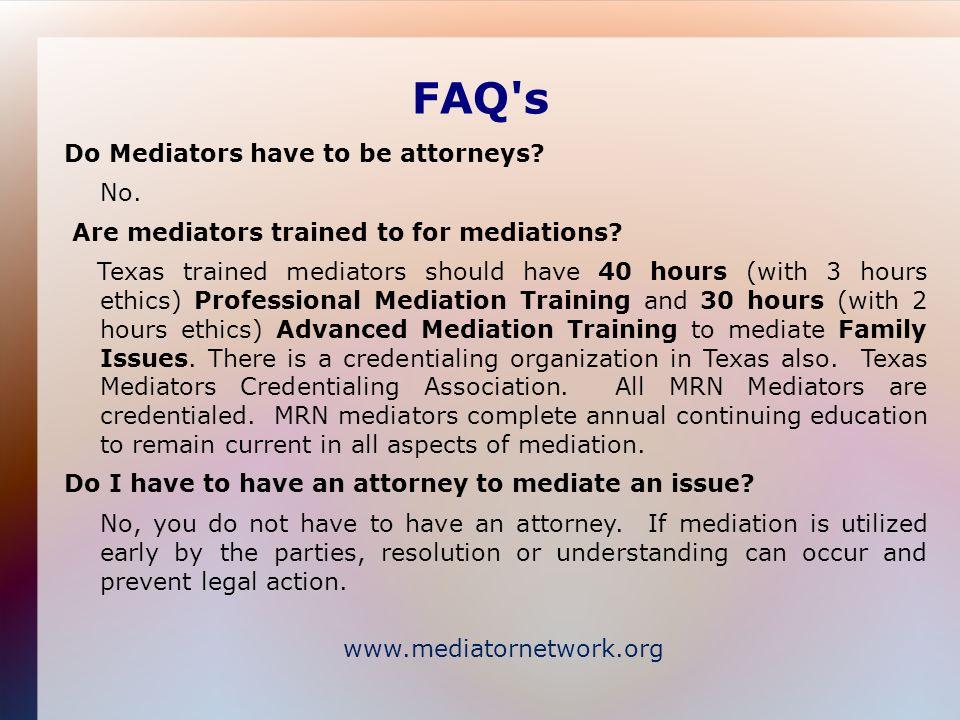 Mediator Resource Network A collaborative organization of