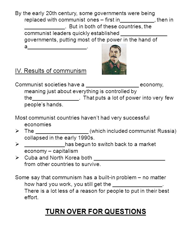 Capitalism Vs Communism Brainpop Communism Video Worksheet I