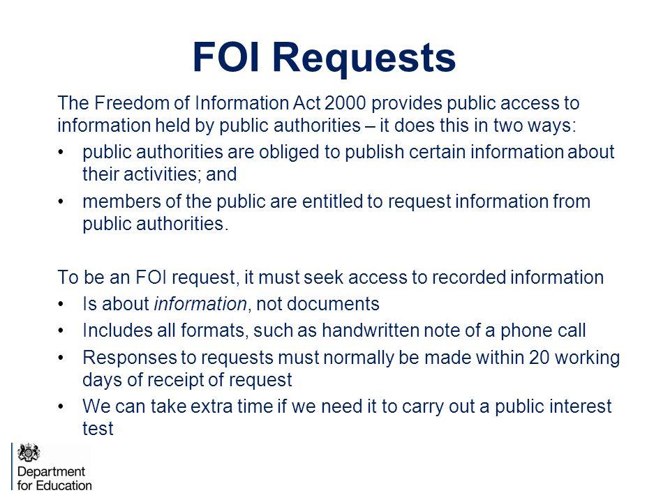 freedom of information act uk