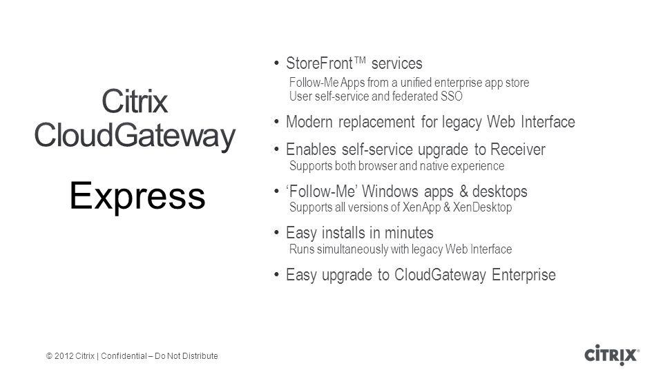 July, 2012 Citrix CloudGateway™ Technical Overview  - ppt