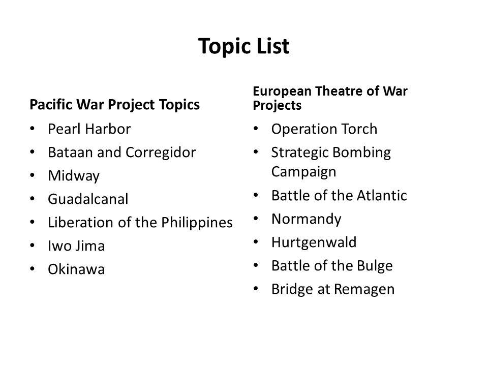 pearl harbor topics