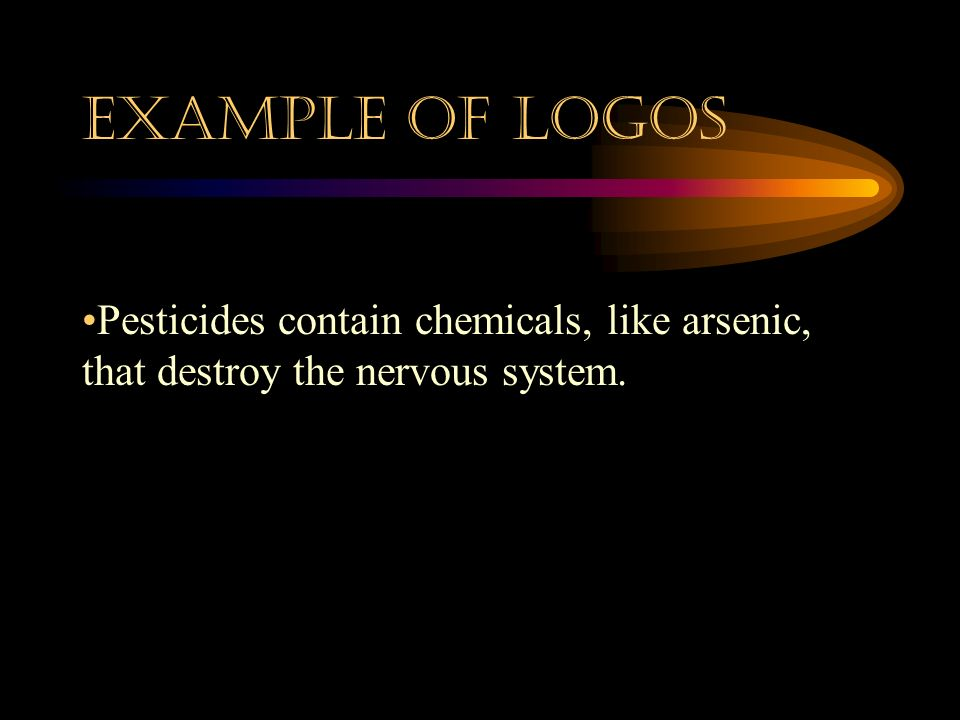 DEFINITION: Logos Logos means logic. 1. Facts 2. Numbers