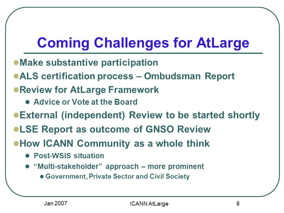 Icann Atlarge Process Forming Ap Ralo Challenges Opportunities Feb