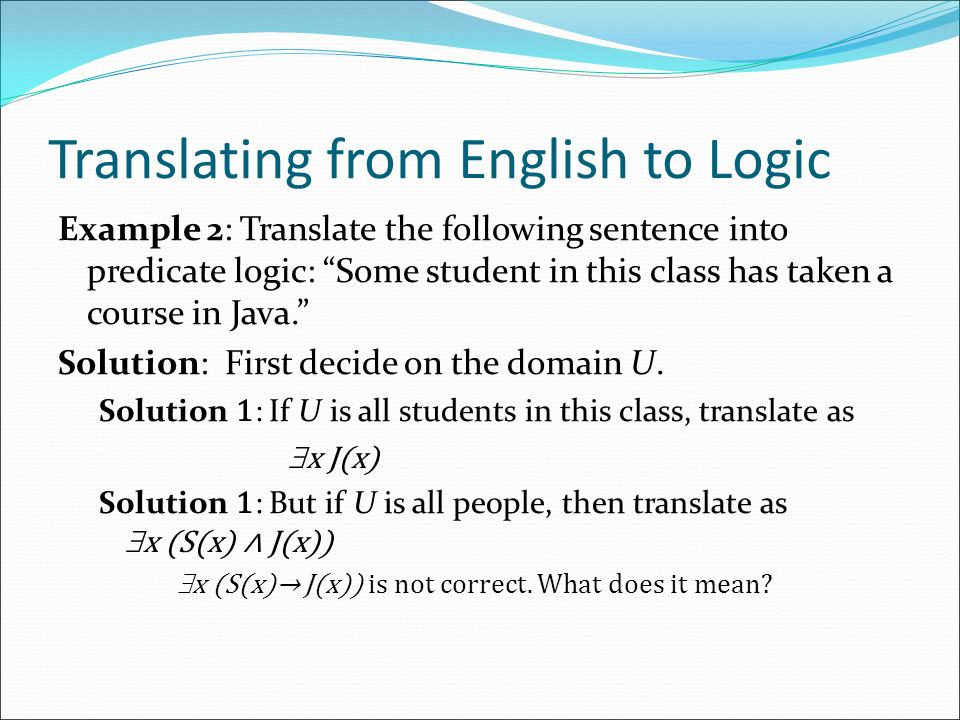 Chapter 1, Part II: Predicate Logic With Question/Answer