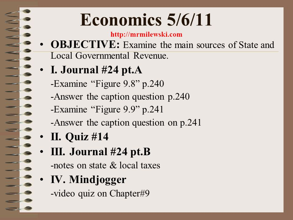 Economics 5 2 11 OBJECTIVE Demonstration Of Chapter 6