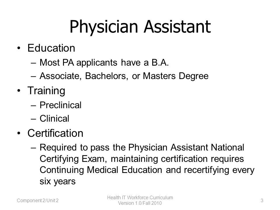 Component 2: The Culture of Health Care Unit 2: Health Professionals ...