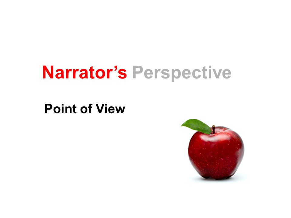 Narrator's Perspective Point of View