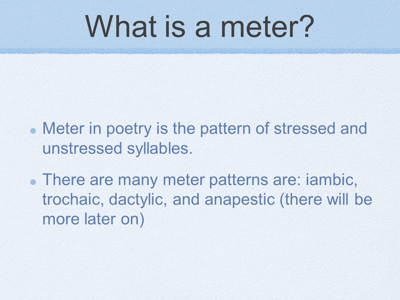 What is a meter 100