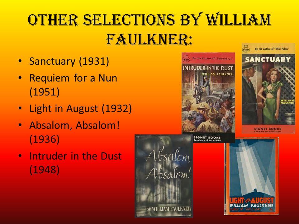 sanctuary and requiem for a nun faulkner william