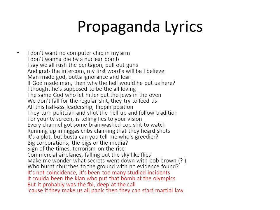 Lyric lyrics to same god : Dead Prez An examination of the lyrics of one of the most ...