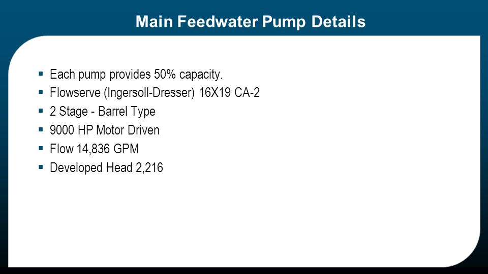Harris Plant – Loss of Main Feed Pump Lube Oil INPO ICES # HNP Root