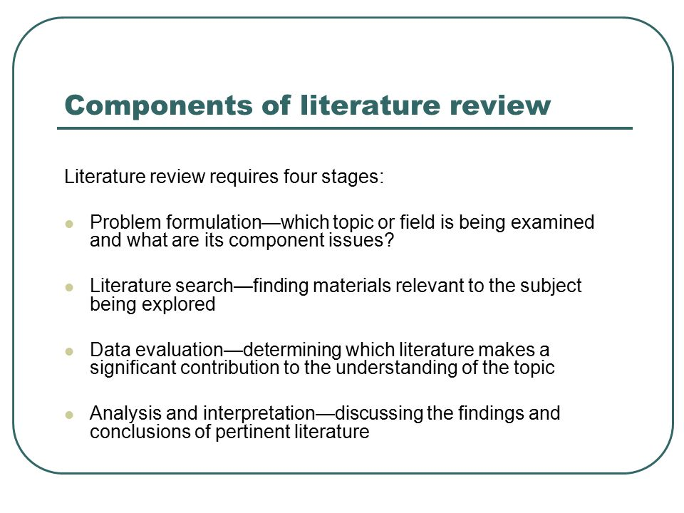 examination of the literature review essay Computer-aided examination system essay sample the field of information technology is very dynamic in nature its diverse effects lead to continuous development of our society as well as our lives.