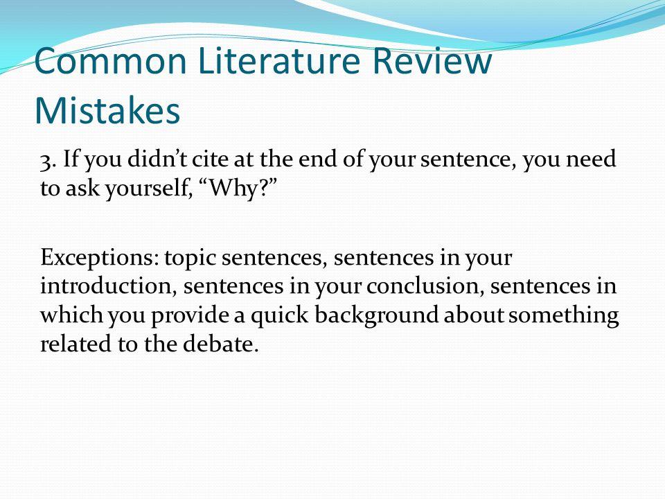 literature review sentences